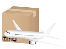 Box and airplane Stock Images