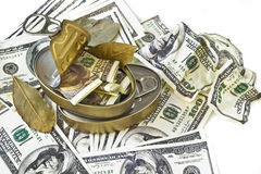 Box with american dollars Royalty Free Stock Photos