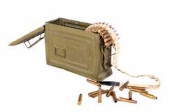 Box of ammunition with cartridges Royalty Free Stock Photo