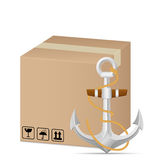Box and anchor Stock Photography
