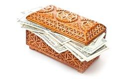 Box And Money Royalty Free Stock Photos
