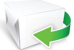 Box with arrow Royalty Free Stock Image