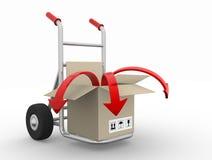 Box with arrow Royalty Free Stock Photo