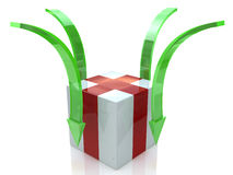Box and arrow. At registration information related to uploading Royalty Free Stock Photography