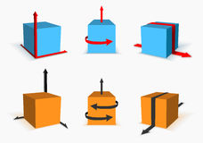 Box with arrows Stock Images