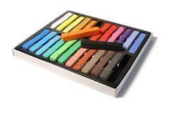 A Box of Artists Pastels Stock Images
