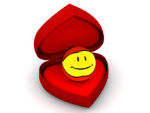 Box as heart with  a smile Royalty Free Stock Photography