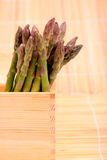 Box of asparagus. Royalty Free Stock Photography
