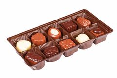 Box of assorted chocolates Royalty Free Stock Image