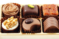 Box of assorted chocolates Royalty Free Stock Images