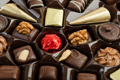 Box of Assorted Chocolates Stock Images