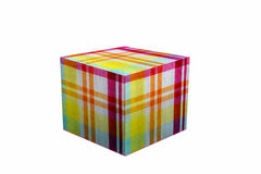 Box of background pattern of Fabric line on white background Royalty Free Stock Photo