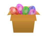 Box with ballons. Stock Image