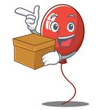 With box balloon character cartoon style Royalty Free Stock Photos