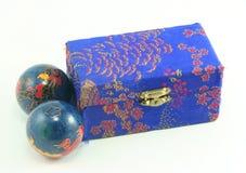 Box and balls Royalty Free Stock Photo