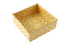 Box of bamboo craft Stock Photo