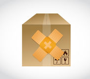 Box band aid fix solution concept illustration Royalty Free Stock Photography
