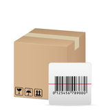 Box and bar code Stock Photos