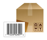 Box with a barcode Royalty Free Stock Photography
