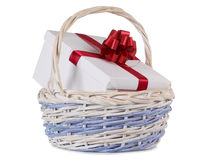 Box in basket Royalty Free Stock Photography