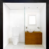 Box bathroom Royalty Free Stock Image