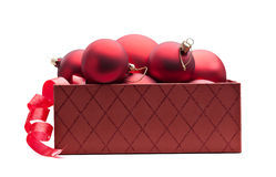 Box of baubles Stock Images