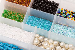 Box with beads Royalty Free Stock Photography