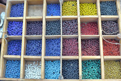 Box of Beads Royalty Free Stock Photos