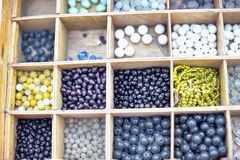 Box of Beads Royalty Free Stock Photography
