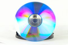 Box behind DVD disc Royalty Free Stock Images