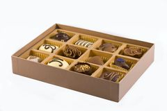 Box of belgian chocolates Royalty Free Stock Photos