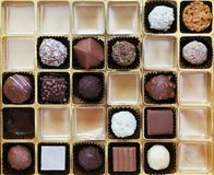 A box of Belgian chocolates Royalty Free Stock Images