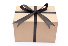 Box with black bow Royalty Free Stock Photo