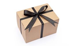 Box with black bow Stock Photo
