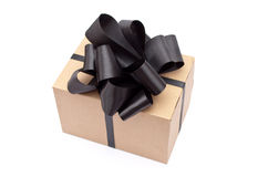 Box with black bow Royalty Free Stock Image