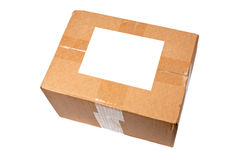 Box with blank label Stock Images