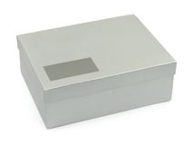 Box with blank label Royalty Free Stock Image