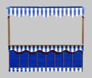 Box in blauw en wit royalty-vrije stock afbeelding