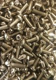 A box of bolts Royalty Free Stock Photo