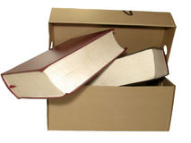 Box and books Royalty Free Stock Images