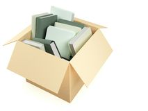 Box with books Stock Photography