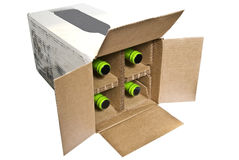 Box With Bottles In It royalty free stock photography