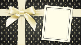 Box with a bow Royalty Free Stock Photography