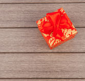 Box with bow Royalty Free Stock Photo