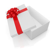 Box with bow and ribbon Royalty Free Stock Images
