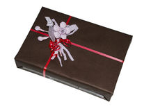 Box with a bow. For wrapping gifts for the holiday Stock Photo