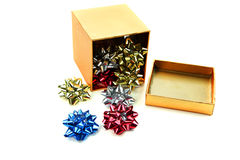 Box of bows Royalty Free Stock Photo