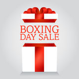 Box boxing day sale Royalty Free Stock Photo
