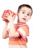 box boy gift little shakes Royaltyfri Bild