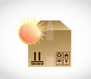 Box and bright sun illustration design Royalty Free Stock Images